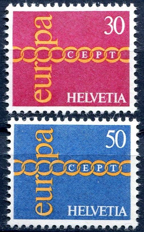 (1971) MiNr. 947 - 948 ** - Švýcarsko - Europa 1971