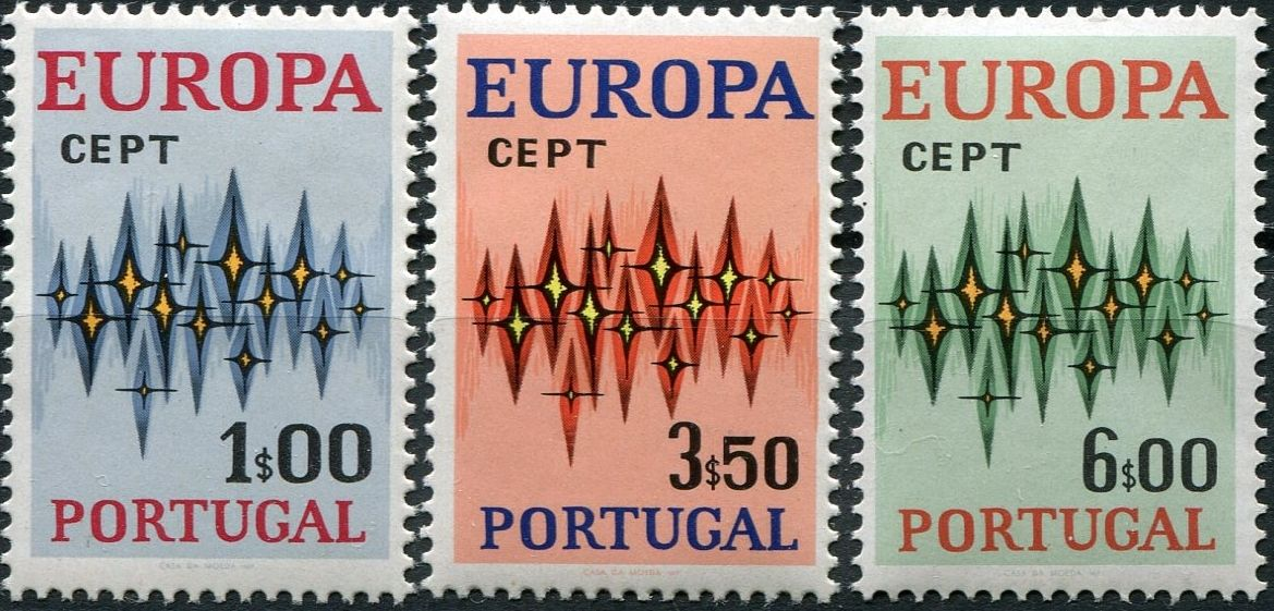 (1972) MiNr. 1166 - 1168 ** - Portugalsko - emise EUROPA - Cept