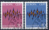 (1972) MiNr. 969 - 970 - O - Švýcarsko - Europa 1972