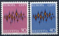 (1972) MiNr. 969 - 970 ** - Švýcarsko - Europa 1972