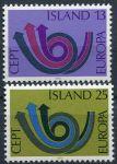 (1973) MiNr. 471 - 472 ** - Island - EUROPA - C.E.P.T. 1973