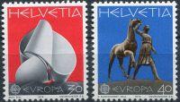 (1974) MiNr. 1029 - 1030 ** - Švýcarsko - Europa 1974
