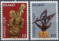(1974) MiNr. 489 - 490 ** - Island - EUROPA - C.E.P.T. 1974