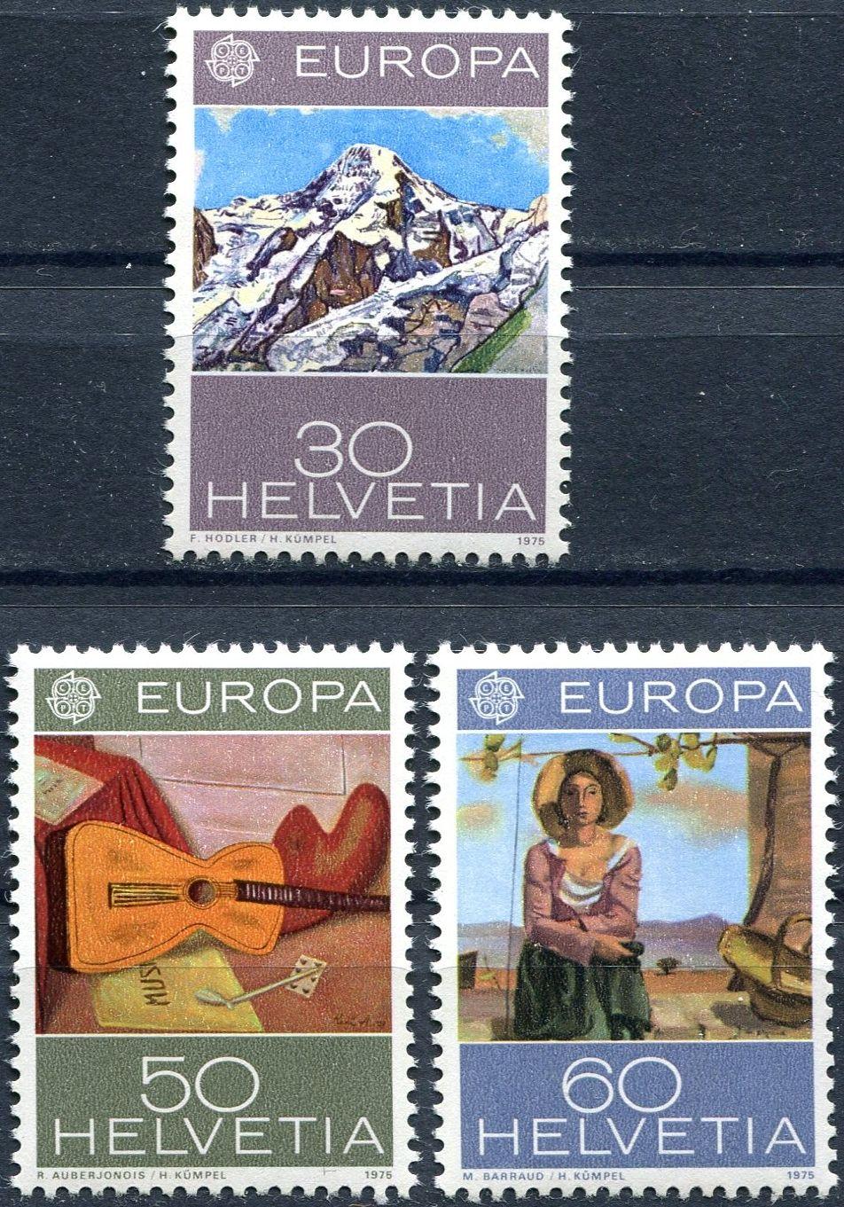 (1975) MiNr. 1050 - 1052 ** - Švýcarsko - Europa 1975