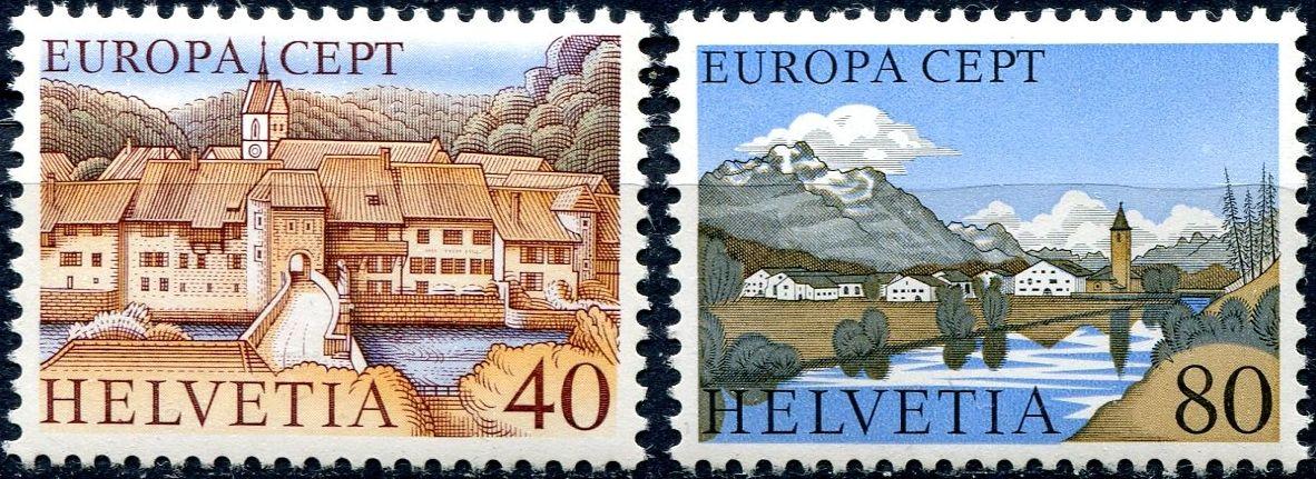 (1977) MiNr. 1094 - 1095 ** - Švýcarsko - Europa 1977