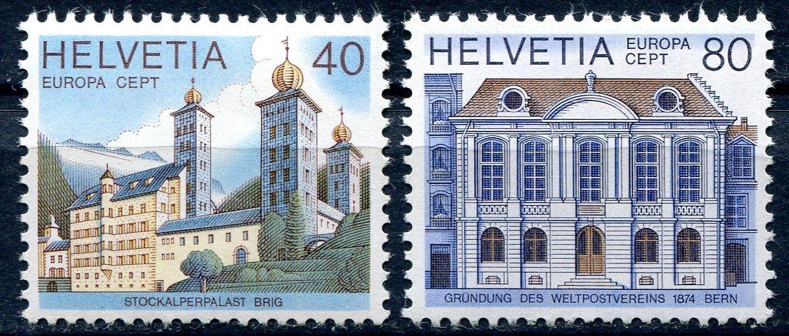 (1978) MiNr. 1128 - 1129 ** - Švýcarsko - Europa 1978