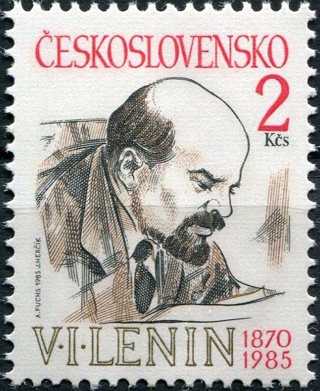 (1985) č. 2688 ** - ČSSR - 115. výročí narození V. I. Lenina