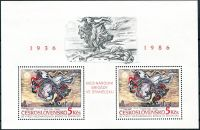 (1986) A 2763 ** - Československo - 50. výročí Interbrigád ve Španělsku