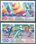(1987) MiNr. 1310 - 1311 ** - Německo - Lyžování a plachtění