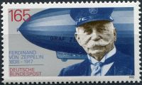 (1992) MiNr. 1597 ** - Německo - F. Graf von Zeppelin (1838-1917)