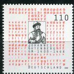 (2000) MiNr. 2098 ** - Německo - 600. narozeniny Johannes Gutenberg