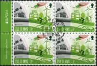 (2016) MiNr. 2205 - O - 4-bl - Isle of Man - EUROPA Think green