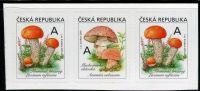 (2018) č. 984 - 985 ** - 3-bl - Česká republika - Jedlé houby - křemenáč/muchomůrka/křemenáč
