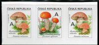 (2018) č. 984 - 985 ** - 3-bl - Česká republika - Jedlé houby - muchomůrka/křemenáč/muchomůrka