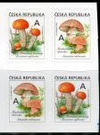(2018) č. 984 - 985 ** - 4-bl - Česká republika - Jedlé houby - křemenáč/muchomůrka