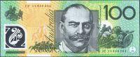 Austrálie - (P 61c) - 100  Australských dollarů (2011) - polymer - UNC