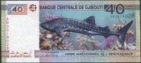 Džibuti - (P 46b) 40 Francs (2017) - UNC příležitostná