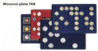 Mincovní plata TAB L - 6 polí - 95 x 95 mm, vín. červená (1 ks v balení)