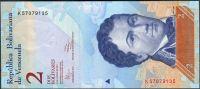 Venezuela (P 88 d) - 2 bolivares (31.1.2012) - UNC