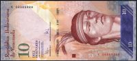 Venezuela (P 90b) - 10 bolivares (3.9.2009) - UNC