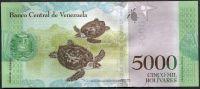Venezuela (P 97a) - 5000 bolivares (18.8.2016) - UNC