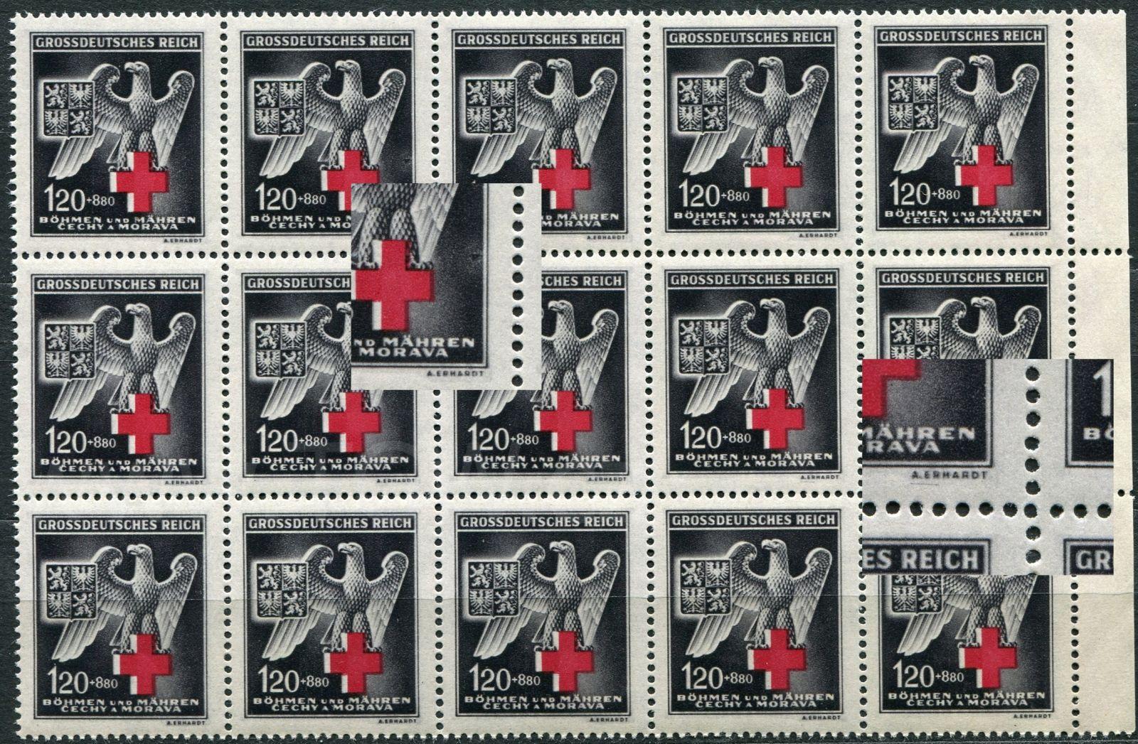 (1943) č. 112 ** - B.ü.M - 15-bl - Něm. červený kříž - DV - 27+39/2