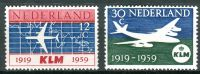 (1959) MiNr. 737 - 738 ** - Nizozemsko - 40 let letecká společnost KLM