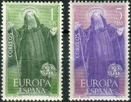 (1965) MiNr. 1565 - 1566 ** - Španělsko - Europa