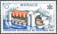 (1967) MiNr. 867 ** - Monako - EXPO '67, Montreal