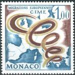 (1967) MiNr. 868 ** - Monaco - Zwischenstaatliches Komitee für europäische Auswanderung (CIME)