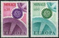 (1967) MiNr. 870 - 871 ** - Monaco - Europa