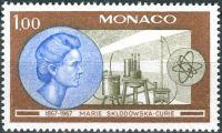 (1967) MiNr. 874 ** - Monaco - 100. Geburtstag von Marie Curie