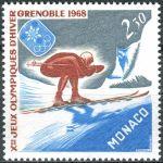(1967) MiNr. 875 ** - Monako - Zimní olympijské hry 1968, Grenoble