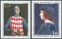 (1967) MiNr. 876 - 877 ** - Monako - Obrazy z knížecího paláce (I)