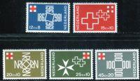 (1967) MiNr. 883 - 887 ** - Nizozemsko - 100 let holandský Červený kříž