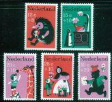 """(1967) MiNr. 888 - 892 ** - Nizozemsko - """"Voor het Kind"""": dětské písně"""