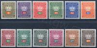 (1968) MiNr. 45 - 56 ** - Lichtenštejnsko - Koruna - služební známky