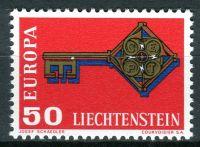 (1968) MiNr. 495 ** - Lichtenštejnsko - Europa