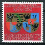 (1968) MiNr. 496 ** - Lichtenštejnsko - Výročí svatby knížete Františka Josefa II. A princezny Giny
