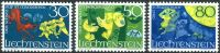 (1968) MiNr. 497 - 499 ** - Liechtenstein - Say (II)