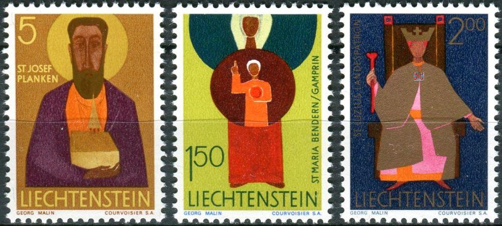 (1968) MiNr. 500 - 502 ** - Lichtenštejnsko - Patron církve
