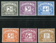 (1968) MiNr. 68 - 73 ** - Velká Británie - Poštovné - číslice v poli