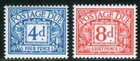 (1968) MiNr. 74 - 75 ** - Velká Británie - Poštovné - číslice v poli