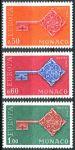 (1968) MiNr. 879 - 881 ** - Monako - Europa