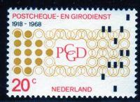 (1968) MiNr. 893 ** - Nizozemsko - 50 let nizozemských poštovních a sporožirových služeb