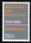"""(1968) MiNr. 901 ** - Nizozemsko - 400 let národní hymna """"Wilhelmus"""""""