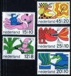 """(1968) MiNr. 905 - 909 ** - Nizozemsko - """"Voor het Kind"""": pohádkové postavy"""