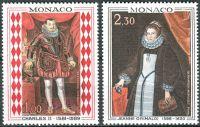 (1968) MiNr. 914 - 915 ** - Monako - Obrazy z knížecího paláce (II)