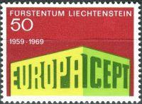 (1969) MiNr. 507 ** - Liechtenstein - Europa