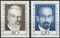 (1969) MiNr. 512 - 513 ** - Lichtenštejnsko - Průkopníci filatelie (II)